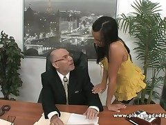 Young Slutty Secretary Fucks Superannuated Boss