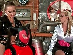 Latex chicken attire on cadger spanked unconnected with mistresses
