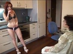 Young unfocused less sexy panties strapon fucks grandma