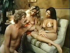 Vintage porn threesome with an Asian spoil
