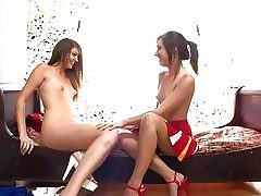 Cute slender schoolgirl Cassandra Nix with small perky boobies coupled with