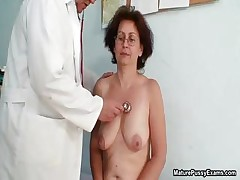 Horny old grandma gets her cock-squeezing part1