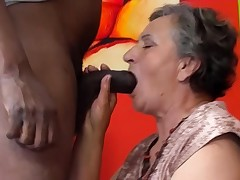 80 years old granny first-ever interracial